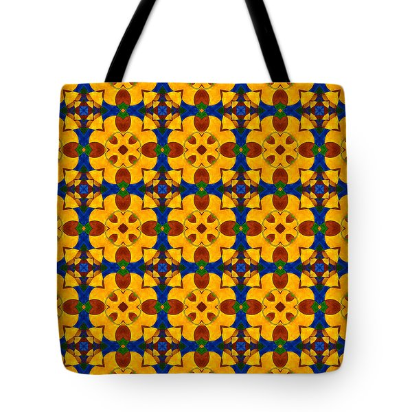 Quadrichrome 13 Symmetry Tote Bag by Hakon Soreide