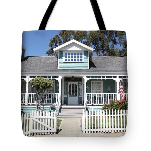 Quaint House Architecture - Benicia California - 5D18817 Tote Bag by Wingsdomain Art and Photography