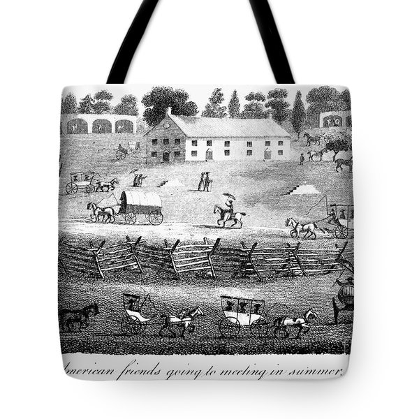 Quaker Meeting, 1811 Tote Bag by Granger