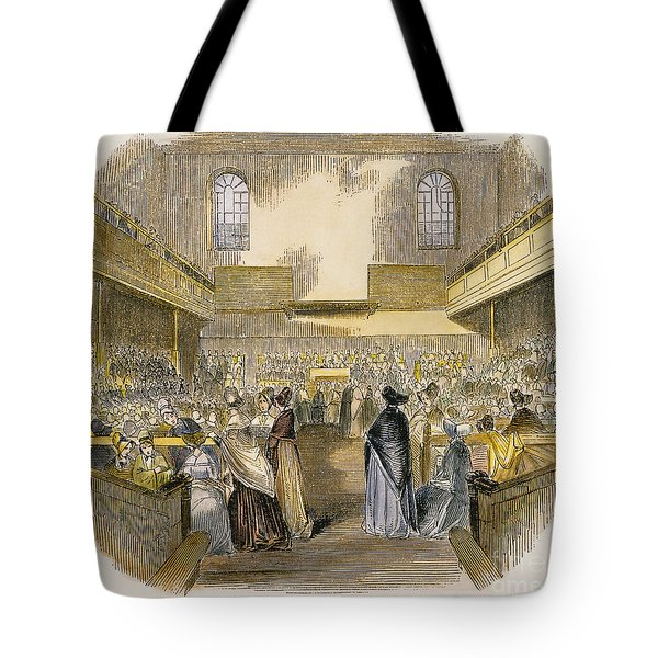 Quaker Meeting, 1843 Tote Bag by Granger