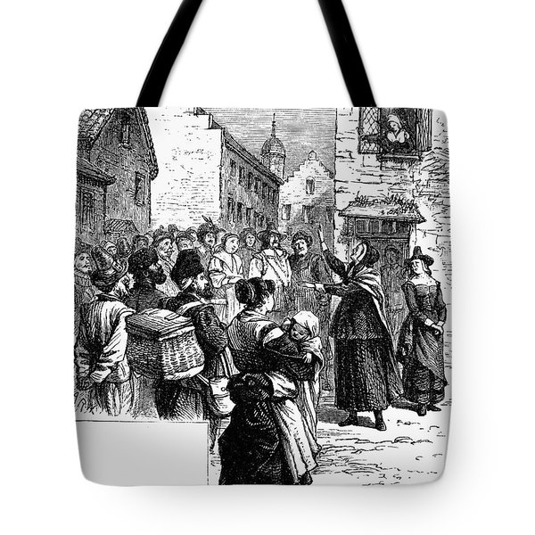 Quaker Preaching, 1657 Tote Bag by Granger