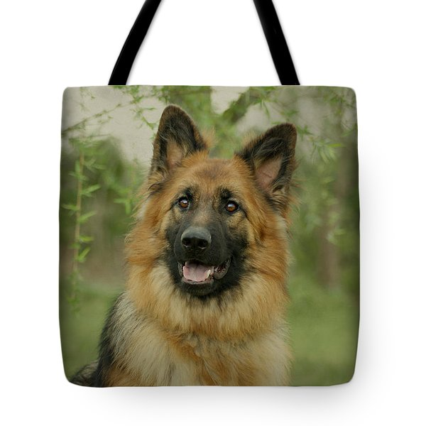 Queena - German Shepherd Tote Bag by Sandy Keeton