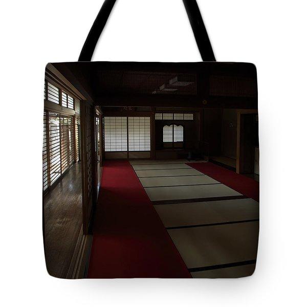 QUIETUDE of ZEN MEDITATION ROOM - KYOTO JAPAN Tote Bag by Daniel Hagerman