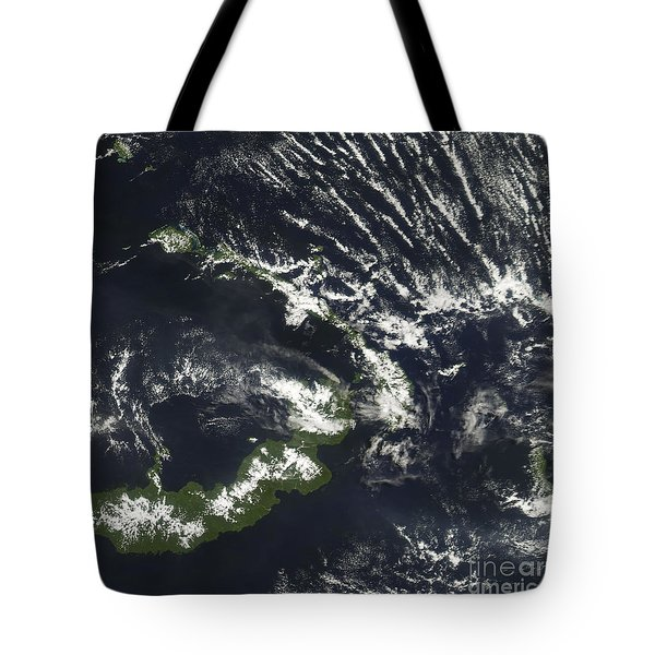 Rabaul Volcano On The Island Of Papua Tote Bag by Stocktrek Images