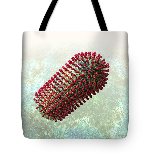 Rabies Virus 2 Tote Bag by Russell Kightley