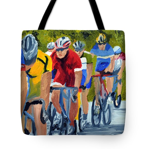 Race Warm Up Tote Bag by Michael Lee