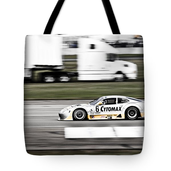Racing By Tote Bag by Darcy Michaelchuk