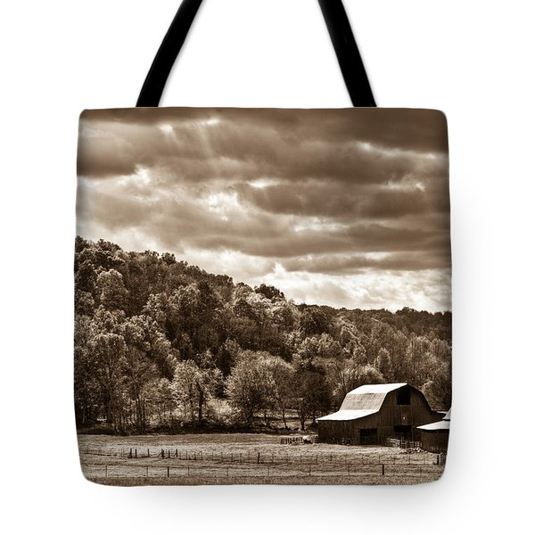 Raging Skies Tote Bag by Douglas Barnett