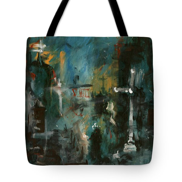 Rain In The Night City Tote Bag by David Finley