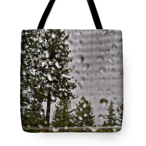 Rain On My Windowpane Tote Bag by Kirsten Giving