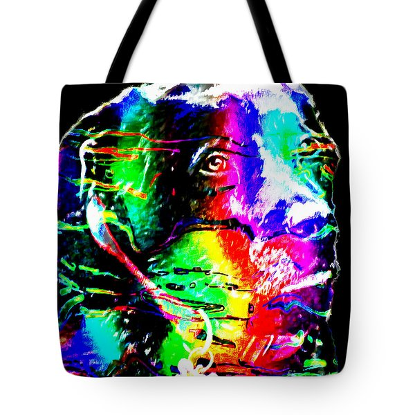 Rainbow Lab Tote Bag by Barbara Griffin