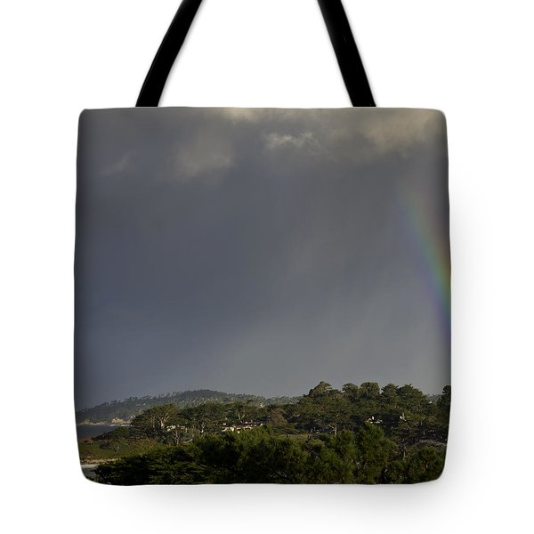 Rainbow Over Carmel Tote Bag by Mike Herdering