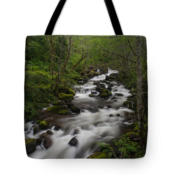 Rainier Forest Flow Tote Bag by Mike Reid