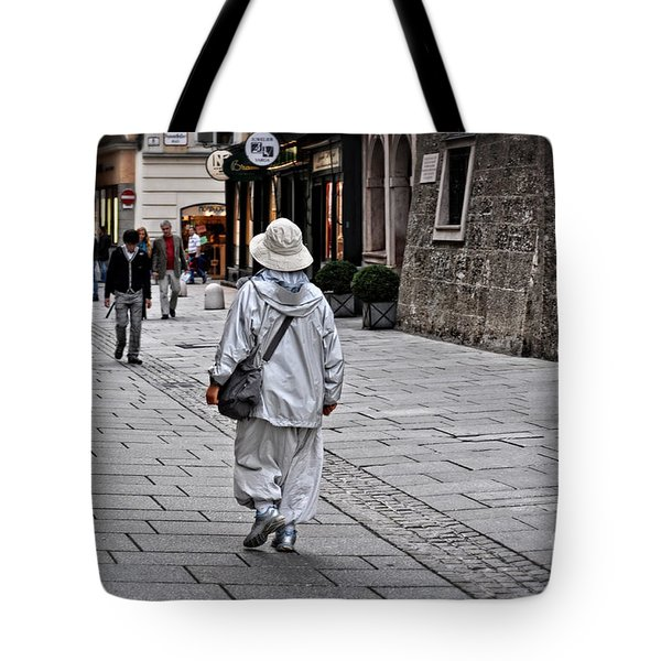 Rainwear In Salzburg Tote Bag by Mary Machare