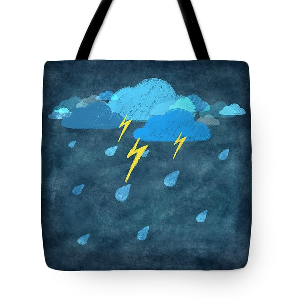 rainy day with storm and thunder Tote Bag by Setsiri Silapasuwanchai