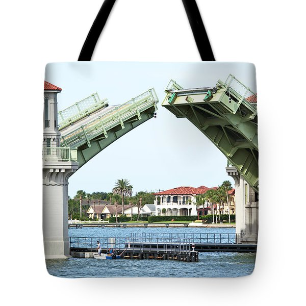 Raised Bridge Tote Bag by Kenneth Albin