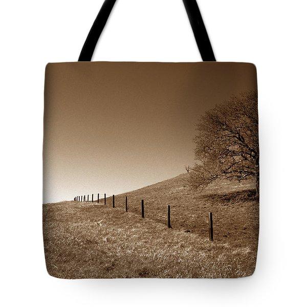 Ranch Road Oak Tote Bag by Kathy Yates
