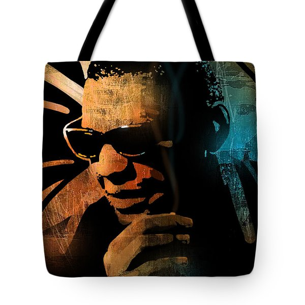 Ray Charles Tote Bag by Paul Sachtleben