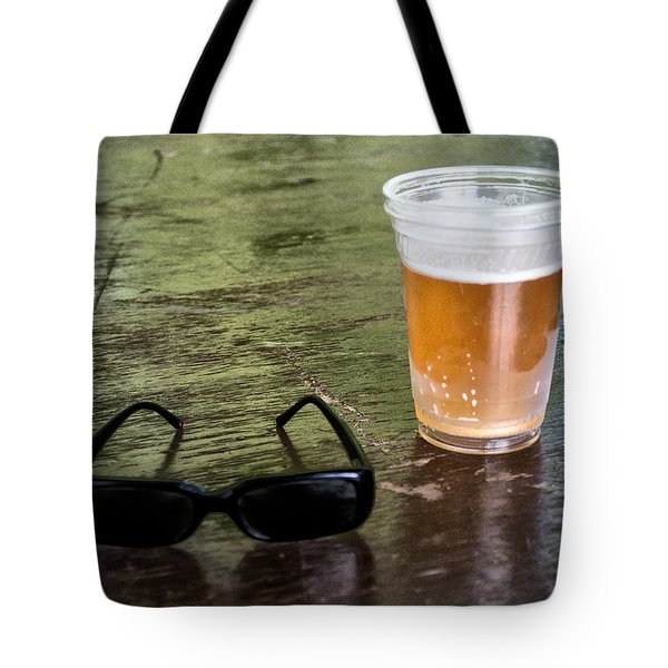 Raybans And A Beer Tote Bag by Bill Cannon