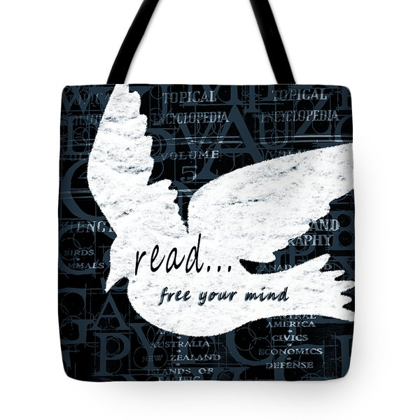 Read Free Your Mind Teal Tote Bag by Angelina Vick