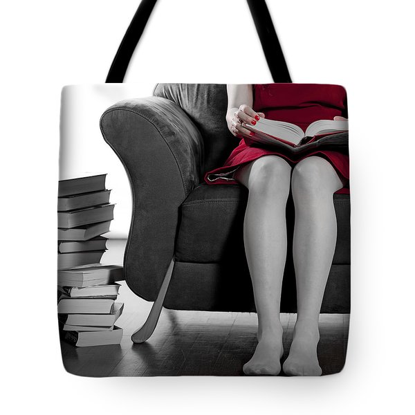 Reading Tote Bag by Joana Kruse