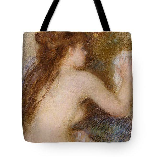 Rear View Of A Nude Woman Tote Bag by Pierre Auguste Renoir