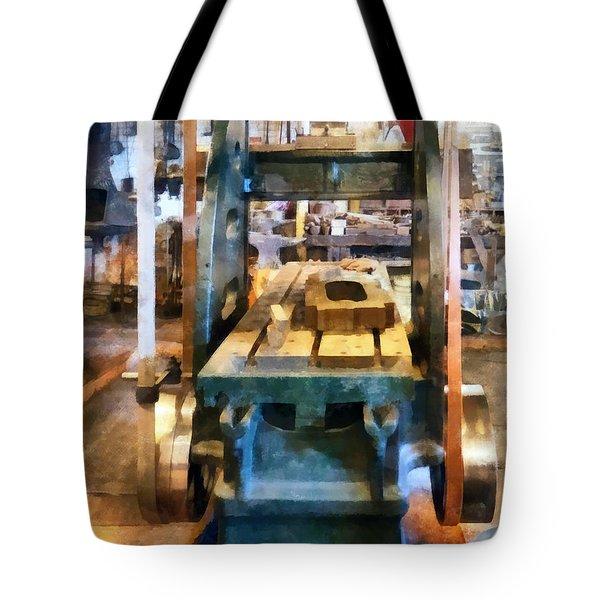 Reciprocating Flatbed Planer Tote Bag by Susan Savad