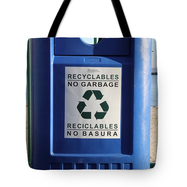 Recycling Bin Tote Bag by Photo Researchers, Inc.