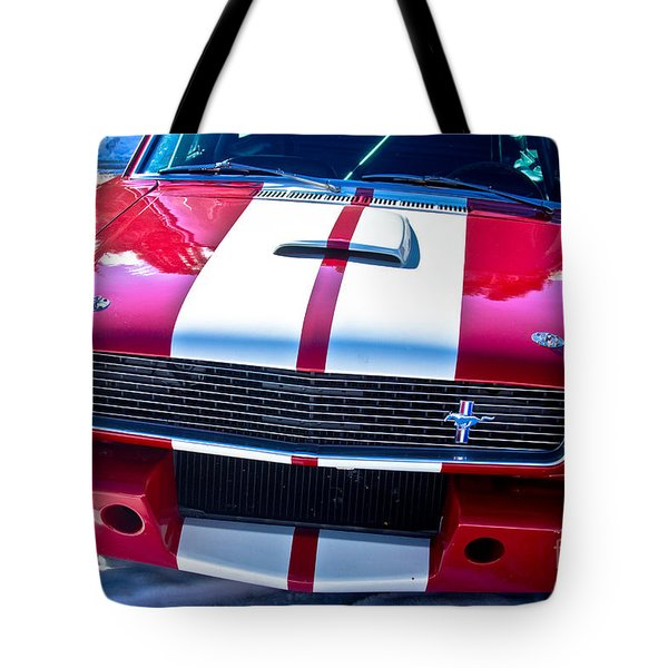 Red 1966 Mustang Shelby Tote Bag by James BO  Insogna