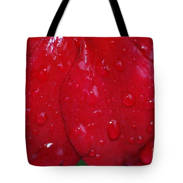 Red And Wet Tote Bag by Paul Ward