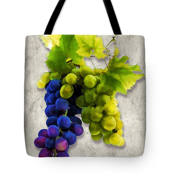 Red And White Grapes Tote Bag by Elaine Plesser