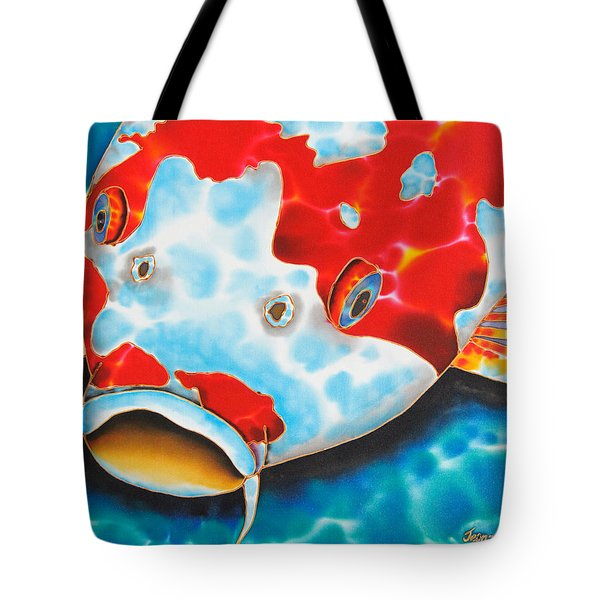Red And White Koi     Tote Bag by Daniel Jean-Baptiste