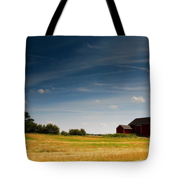 Red Barn Tote Bag by Cale Best