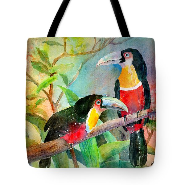 Red-breasted Toucans Tote Bag by Arline Wagner