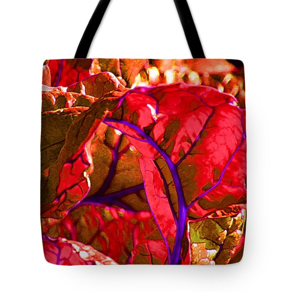 Red Chard Tote Bag by Rory Sagner