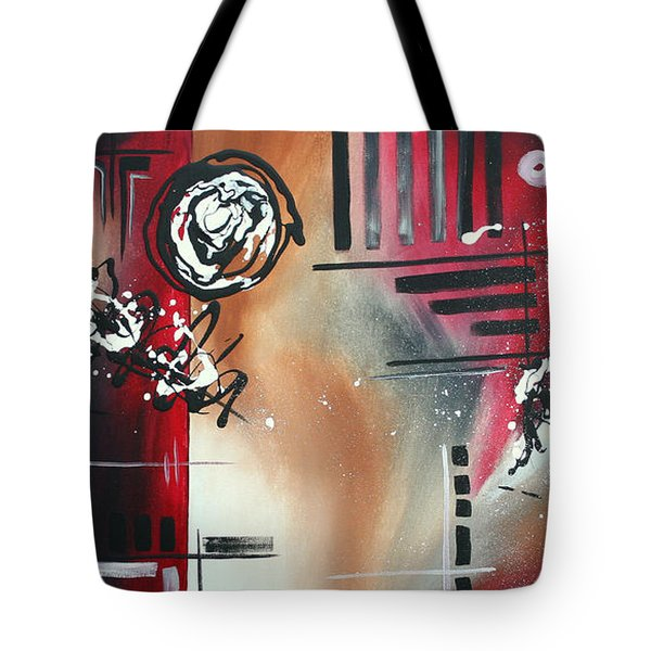Red Divinity By Madart Tote Bag by Megan Duncanson