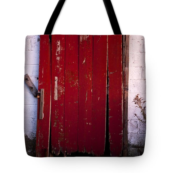Red Door Tote Bag by Cale Best