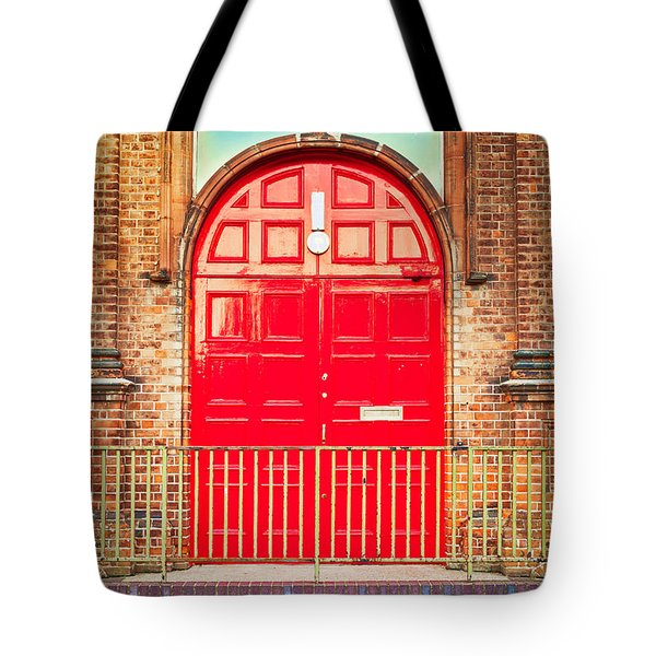 Red door Tote Bag by Tom Gowanlock