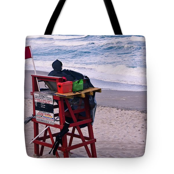 Red Flag Day Tote Bag by Roger Wedegis