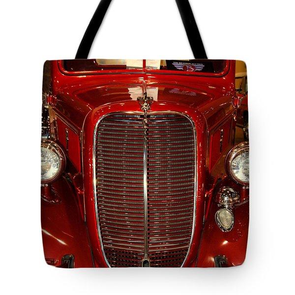 Red Ford Tote Bag by Susanne Van Hulst