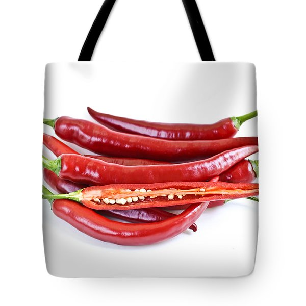 Red hot chili peppers Tote Bag by Elena Elisseeva