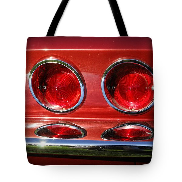 Red Hot Vette Tote Bag by Luke Moore