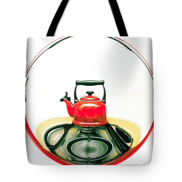 Red kettle Tote Bag by Tom Gowanlock
