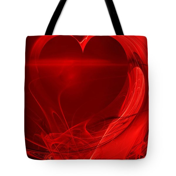 Red Love . A120423.279 Tote Bag by Wingsdomain Art and Photography