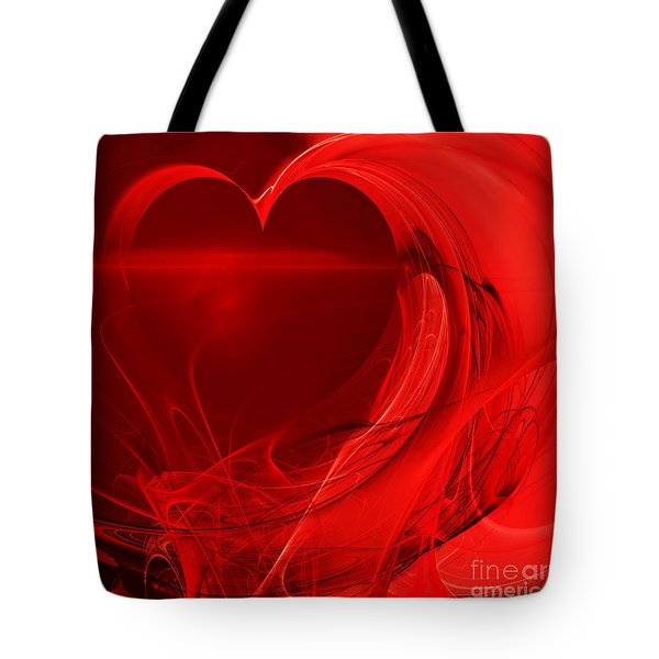 Red Love . Square . A120423.279 Tote Bag by Wingsdomain Art and Photography