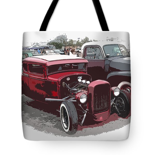 Red Model A Coupe Tote Bag by Steve McKinzie