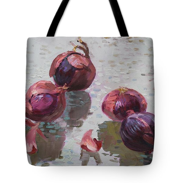 Red Onions Tote Bag by Ylli Haruni