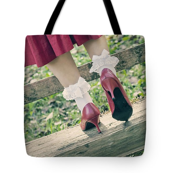 red pumps Tote Bag by Joana Kruse