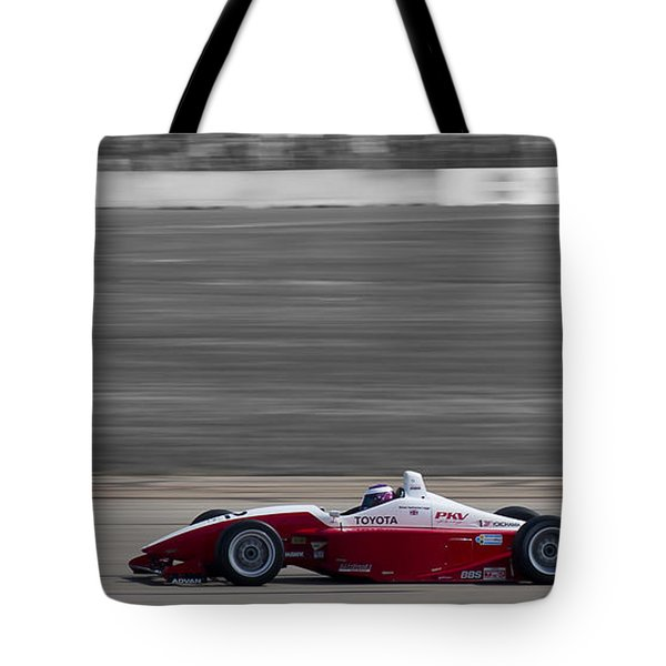 Red Racer Tote Bag by Darcy Michaelchuk