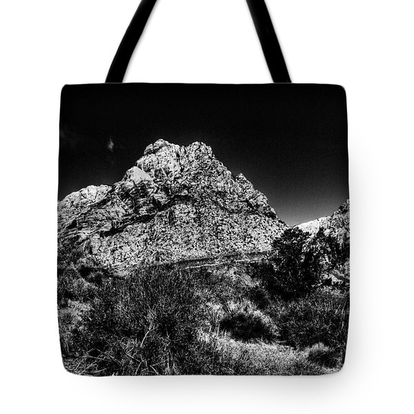 Red Rock Canyon at Spring Mountain Tote Bag by David Patterson